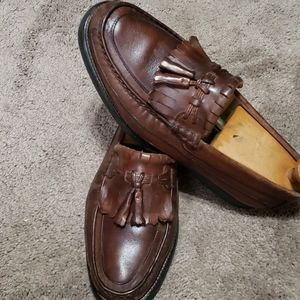 Florsheim brown leather loafers